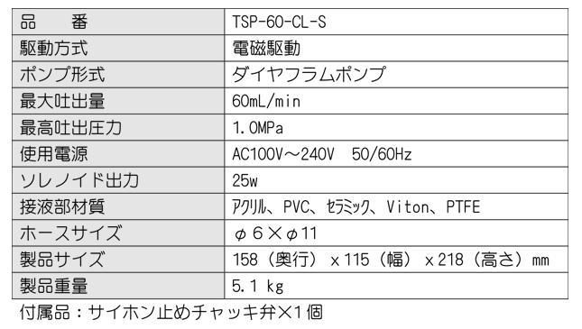 TSP60CLS_仕様