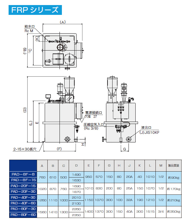 溶解装置pad_図面FRP
